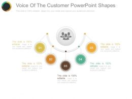 Voice Of The Customer Powerpoint Shapes