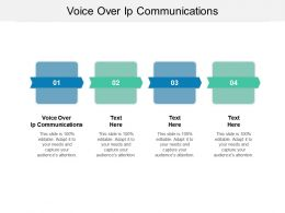 Voice Over Ip Communications Ppt Powerpoint Presentation Styles Templates Cpb