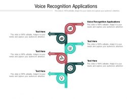 Voice Recognition Applications Ppt Powerpoint Presentation Inspiration Vector Cpb