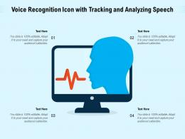 Voice Recognition Icon With Tracking And Analyzing Speech