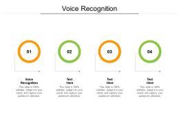 Voice Recognition Ppt Powerpoint Presentation Model Design Ideas Cpb