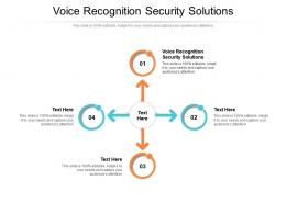 Voice Recognition Security Solutions Ppt Powerpoint Presentation Ideas Deck Cpb