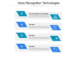 Voice Recognition Technologies Ppt Powerpoint Presentation Model Guide Cpb