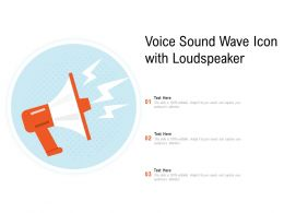 Voice Sound Wave Icon With Loudspeaker