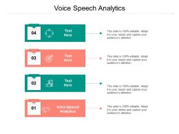 Voice Speech Analytics Ppt Powerpoint Presentation Model Influencers Cpb