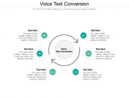 Voice Text Conversion Ppt Powerpoint Presentation Ideas Model Cpb