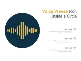 Voice Waves Icon Inside A Circle