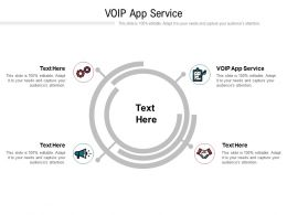 VOIP App Service Ppt Powerpoint Presentation Infographics Icon Cpb
