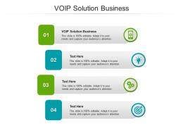 VOIP Solution Business Ppt Powerpoint Presentation File Images Cpb