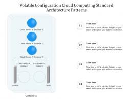 Volatile Configuration Cloud Computing Standard Architecture Patterns Ppt Powerpoint Slide