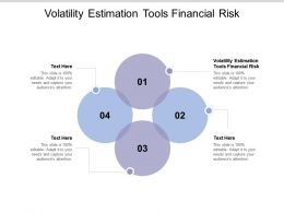 Volatility Estimation Tools Financial Risk Ppt Powerpoint Presentation Infographic Cpb