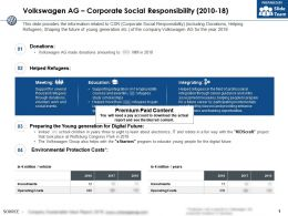 Volkswagen Ag Corporate Social Responsibility 2010-18