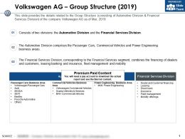 Volkswagen Ag Group Structure 2019