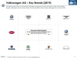 Volkswagen Ag Key Brands 2019