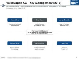 Volkswagen Ag Key Management 2019