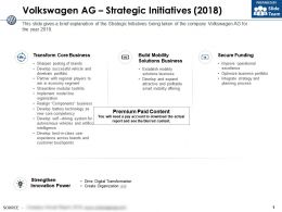 Volkswagen Ag Strategic Initiatives 2018