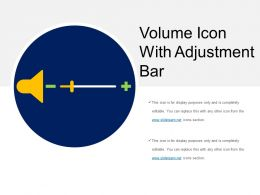 Volume Icon With Adjustment Bar