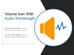 Volume Icon With Audio Wavelength