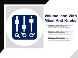 Volume Icon With Mixer And Knobs
