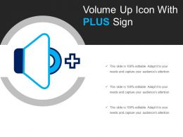 Volume Up Icon With Plus Sign