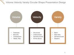 Volume Velocity Variety Circular Shape Presentation Design
