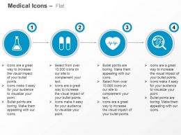 Volumetric Flask Pills Heart Germs And Bacteria Ppt Icons Graphics