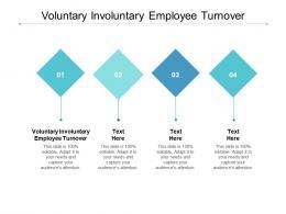 Voluntary Involuntary Employee Turnover Ppt Powerpoint Presentation Gallery Ideas Cpb