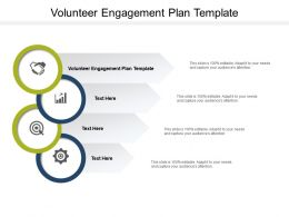 Volunteer Engagement Plan Template Ppt Powerpoint Presentation Icon Cpb