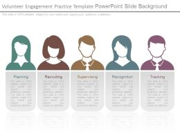 Volunteer Engagement Practice Template Powerpoint Slide Background