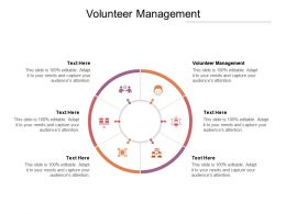 Volunteer Management Ppt Powerpoint Presentation Shapes Cpb