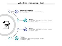Volunteer Recruitment Tips Ppt Powerpoint Presentation Inspiration Background Cpb