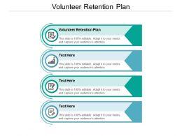 Volunteer Retention Plan Ppt Powerpoint Presentation Icon Ideas Cpb