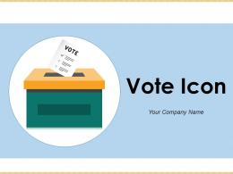 Vote Icon Computer Electronic Candidates Presidential