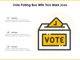Vote Polling Box With Tick Mark Icon