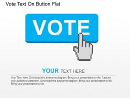Vote Text On Button Flat Powerpoint Design