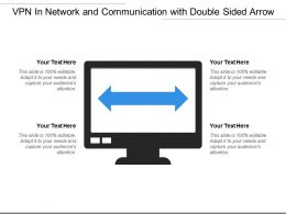 Vpn In Network And Communication With Double Sided Arrow