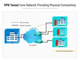 VPN Tunnel Core Network Providing Physical Connectivity