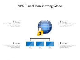 VPN Tunnel Icon Showing Globe
