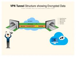 VPN Tunnel Structure Showing Encrypted Data
