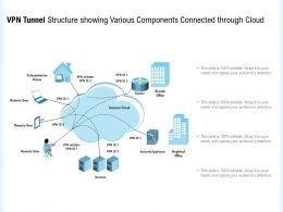 VPN Tunnel Structure Showing Various Components Connected Through Cloud