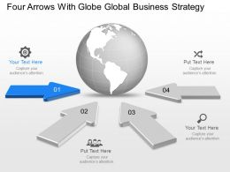 vq_four_arrows_with_globe_global_business_strategy_powerpoint_template_Slide02