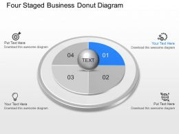Vs Four Staged Business Donut Diagram Powerpoint Template