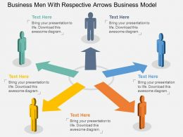 vt Business Men With Respective Arrows Business Model Flat Powerpoint Design