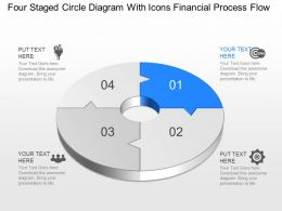 Vt Four Staged Circle Diagram With Icons Financial Process Flow Powerpoint Template
