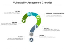 Vulnerability Assessment Checklist Ppt Powerpoint Presentation File Background Designs Cpb