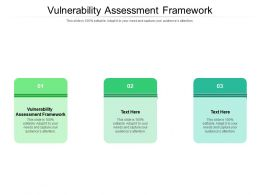 Vulnerability Assessment Framework Ppt Presentation Portfolio Inspiration Cpb