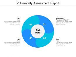 Vulnerability Assessment Report Ppt Powerpoint Presentation Slides Designs Cpb
