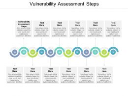 Vulnerability Assessment Steps Ppt Powerpoint Presentation File Grid Cpb