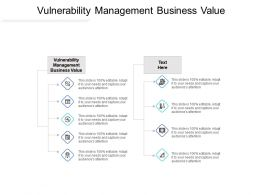 Vulnerability Management Business Value Ppt Powerpoint Presentation Professional Maker Cpb