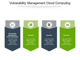 Vulnerability Management Cloud Computing Ppt Powerpoint Presentation Infographic Template Design Cpb
